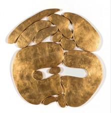 """""""İstif"""" Serisinden 1, 2016 Şasiye gerilmiş parşömen ve altın varak 92 x 85 cm"""
