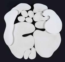 """""""III. İstif"""" Serisinden 10, 2017 Form verilmiş tuval 101 x 100 cm"""