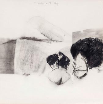 İsimsiz, 1984 Kâğıt üzerine karışık teknik 50,5 x 50 cm