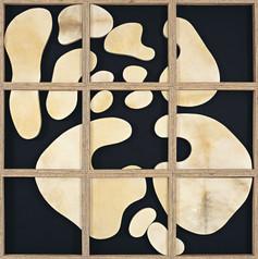 İsimsiz, 2006 Şasiye gerilmiş parşömen 123 x 123 cm