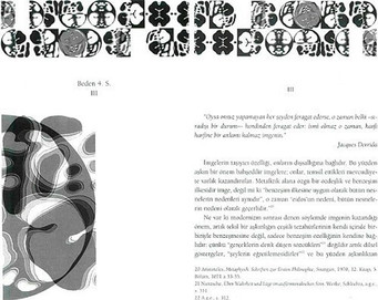 """Beden 4. Seri III, 1999 """"Zeynep Sayın / Mithat Şen ve Beden Yazısı I"""" için bilgisayarla tasarlanmış 13 parçadan oluşan bütün, kitap sayısı kadar kitap üzerinde çoğaltılmıştır."""