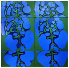 İsimsiz, 1990 Tuval üzerine akrilik 200 x 200 cm