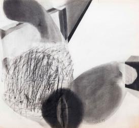 İsimsiz, 1984 Kâğıt üzerine karışık teknik 49,5 x 54 cm