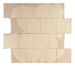 İsimsiz, 1994-95 Branda üzerine model hamuru ve akrilik 154 x 184 cm