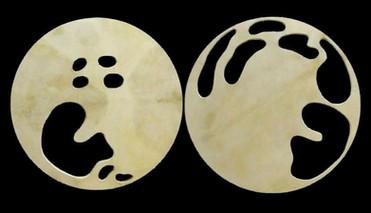 İsimsiz, 2003 Şasiye gerilmiş parşömen Her biri Ø 80 cm
