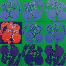 İsimsiz, 1990 Tuval üzerine akrilik 132,5 x 132,5 cm