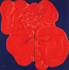 İsimsiz, 1992 Tuval üzerine model hamuru ve akrilik 200 x 200 cm