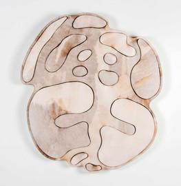 İsimsiz, 2017 Şasiye gerilmiş parşömen 100 x 93 cm Ø 130 cm