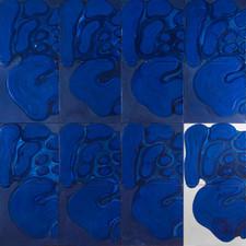 İsimsiz, 1991 Tuval üzerine model hamuru ve akrilik 180 x 180 cm
