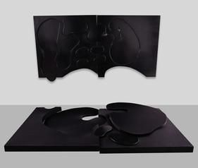 İsimsiz, 2007 Şasiye gerilmiş karışık malzeme Her biri 123 x 246 cm