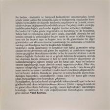 Beden Giriş Metni, 1992 Serigrafi 50 x 50 cm Ed. 100