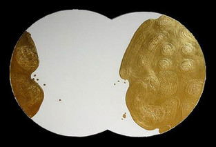 İsimsiz, 2002 Tuval üzerine model hamuru ve akrilik 81 x 160 cm