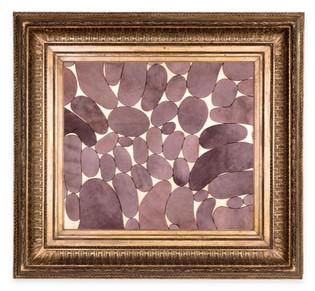 Âlem İçindedir 1, 2020 Şasiye gerilmiş boyanmış parşömen Altın varaklı çerçeve 92 x 100 cm