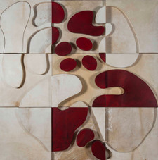 İsimsiz, 2007 Şasiye gerilmiş boyanmış parşömen 123 x 123 cm