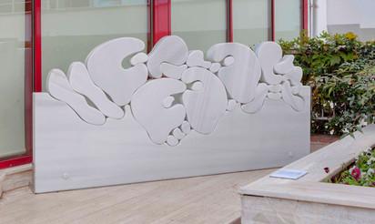 """İstif"" Serisinden Heykel 2, 2017 Mermer 118 x 228 x 9 cm"