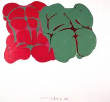 Üçlü Kalıpla Sekizleme Serisinden, 1988 Tuval üzerine akrilik 110 x 120 cm