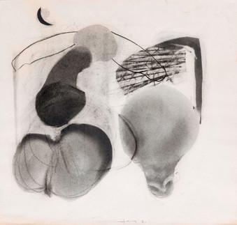 İsimsiz, 1985 Kâğıt üzerine karışık teknik 50 x 53,5 cm