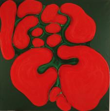 İsimsiz, 1991 Tuval üzerine akrilik 180 x 180 cm