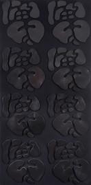 İsimsiz, 2010 Şasiye gerilmiş kumaş ve boyanmış parşömen 200 x 100 cm