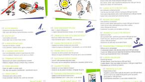 In 4 Schritten zu gesunden Zähnen und das in 8 Sprachen.