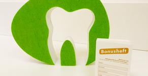 Auf geht's - zum Jahresende noch zur zahnärztlichen Kontrolle und zum Bonus-Stempel sammeln!