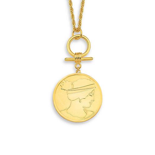 Kadın Figürlü Madalyon Kolye