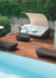 terraza en lona docril