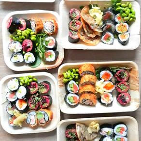 Sushi, oliebollen en appelbeignets