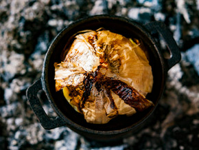 Oignon doux des Cévennes par Olivier Christoffel du restaurant l'Instant à Romans-sur-Isère.