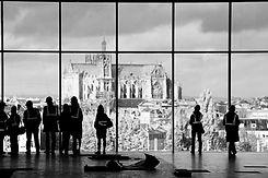 Vue sur la cathédrale de Metz depuis le futur musée Pompidou