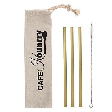 Logo Printed Bamboo Straws