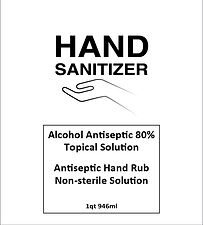 Hand Sanitizer label 2x4.5x5in 80-alc-01