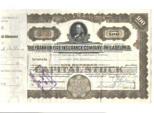 Страховой полис 1752 год