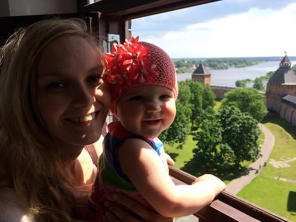 Из окна башни Новгородского кремля