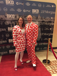 ESOP Chairpersons wearing heart suits in honor of ILoveMyESOP