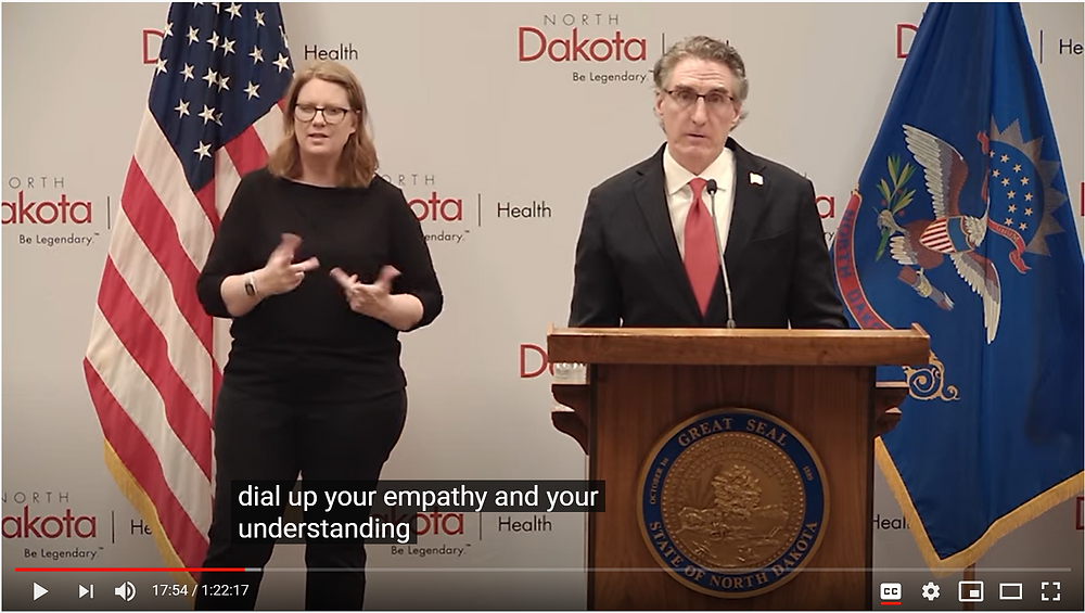 Gov. Doug Burgum at the May 22nd, 2020 COVID-19 Press Conference, Source: North Dakota Department of Health YouTube Channel