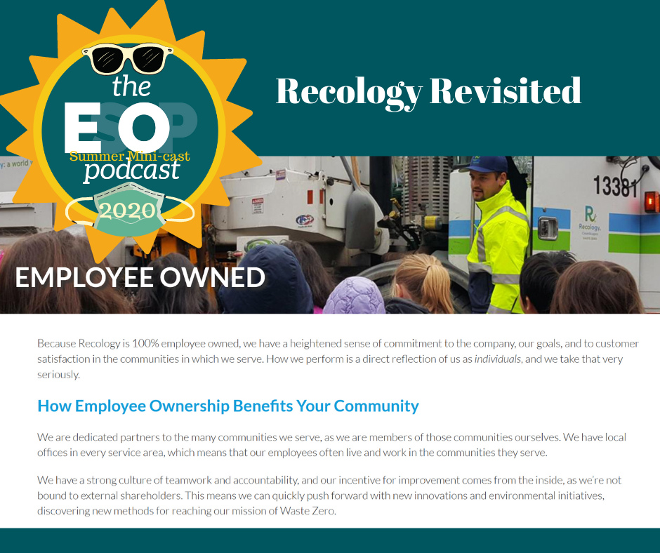 "Recology ""About Us: Employee Owned"" on the Recology website, www.recology.com"