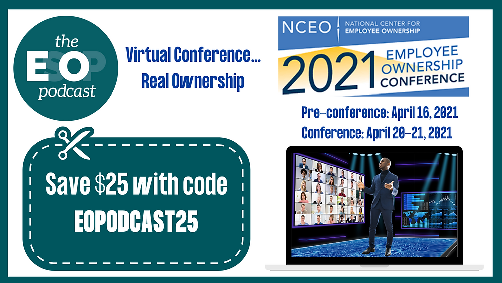 Save #25 on NCEO's virtual employee ownership conference with code EOPODCAST25