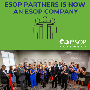 """ESOP Partners: """"In honor of Employee Ownership Month we have BIG news to share! We are proud to say that we have joined the ranks of approximately 6,600 companies that are owned by an ESOP."""" Source ESOPPartners.com News and Events"""
