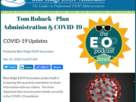 ESOP Summer School 17: Plan Administration & COVID-19