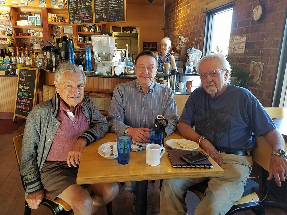 Dick Peterson, Larry Dunn, and Bill Kirton, co-founders of the RMEOC