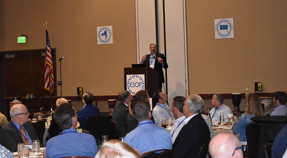 ESOPAssociation Multi-State Conference featured lunchtime speaker, Bill Castellano, of Rutgers School of Management & Labor Relations on how EO addresses important societal issues. Full house!