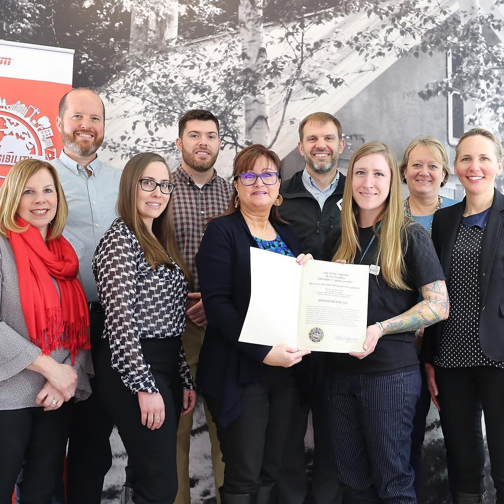 Hypertherm is proud to have received NH's Recovery Friendly Workplace Designation from Gov. Sununu's office. [Source: Hypertherm Careers and Jobs Facebook page]