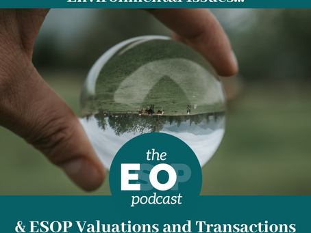 Mini-cast 62: Environmental Issues & ESOP Valuations and Transactions