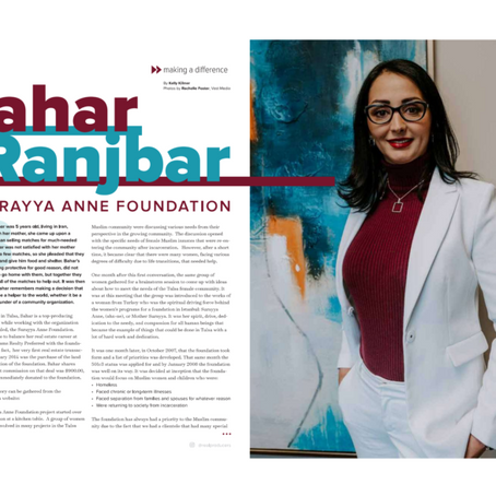 Founder & President Bahar Ranjbar featured in Tulsa Real Producers Magazine