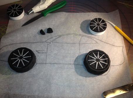 1st Car Cake - Challenging
