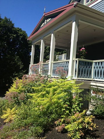 view of the side of the B&B in the spring