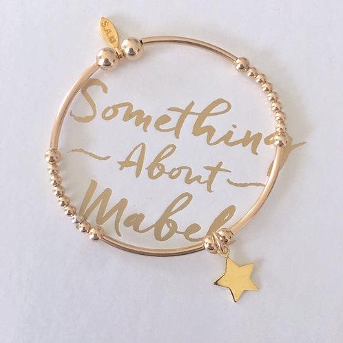 Classic Gold Noodle Star Bracelet