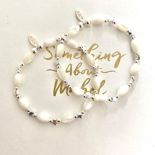 Silver Chalk Bracelet