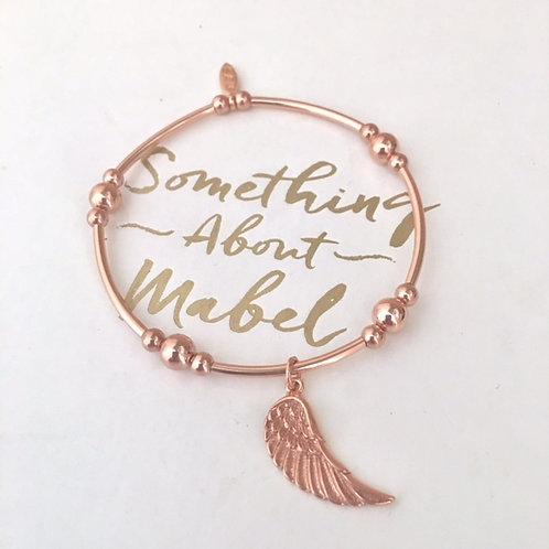 Marlowe Rose Gold Angel Wing Bracelet